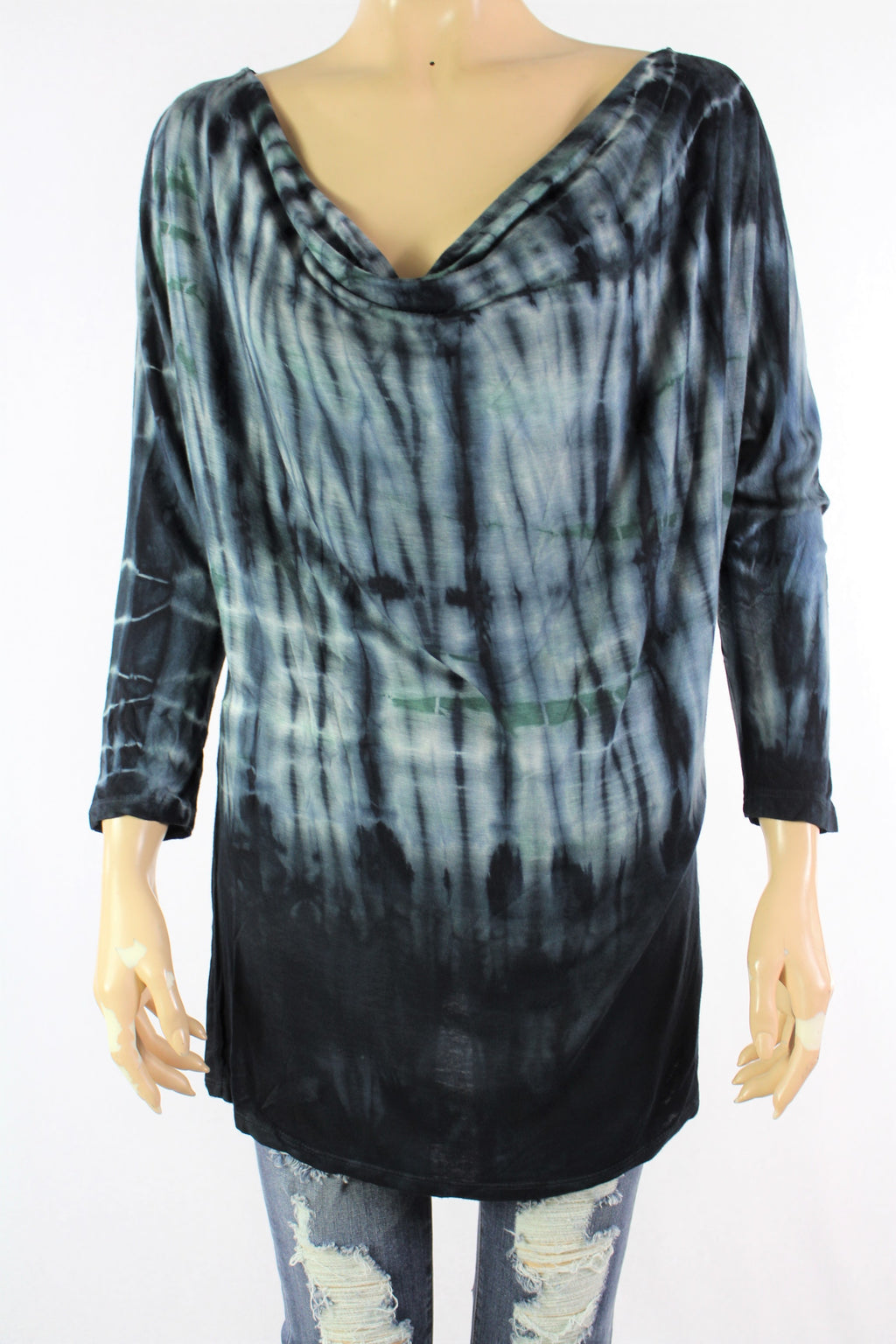 Women's Long Sleeves Tie Dye Top