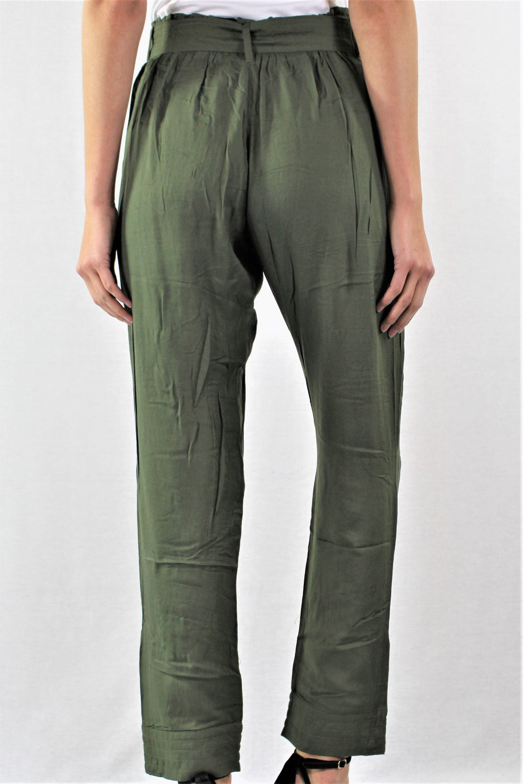 Twill Pants with Side Zipper Detail