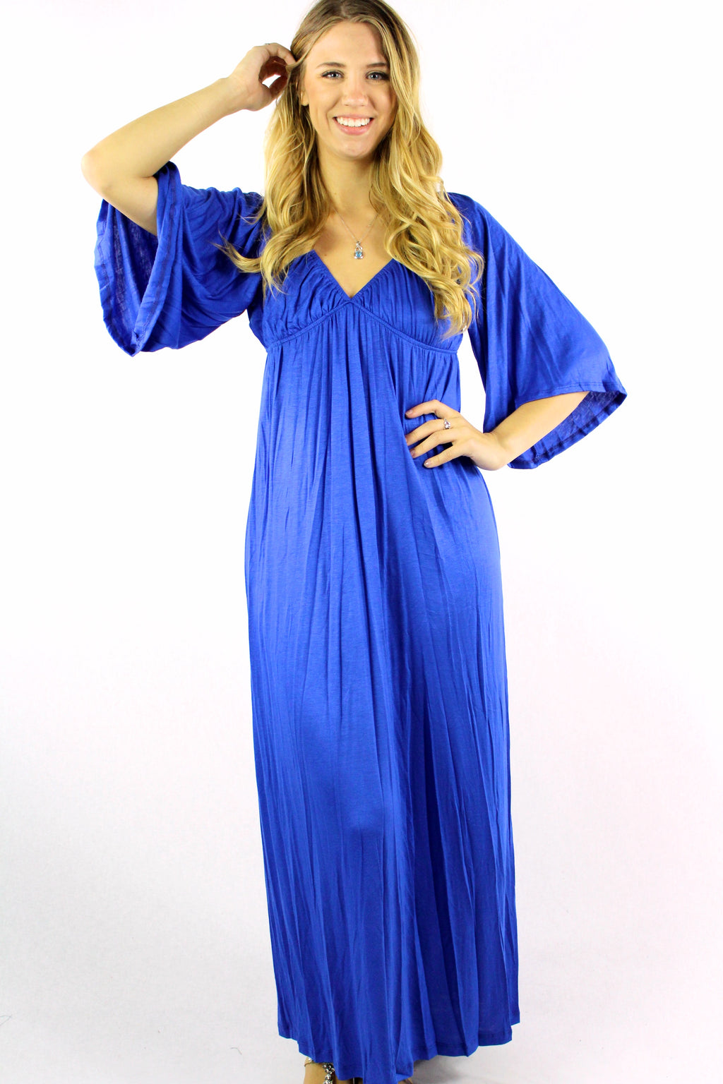 Women's Bell Sleeve Maxi Dress