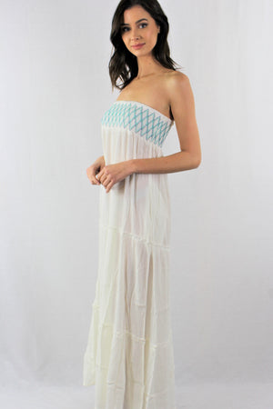 Casual Strapless Dress