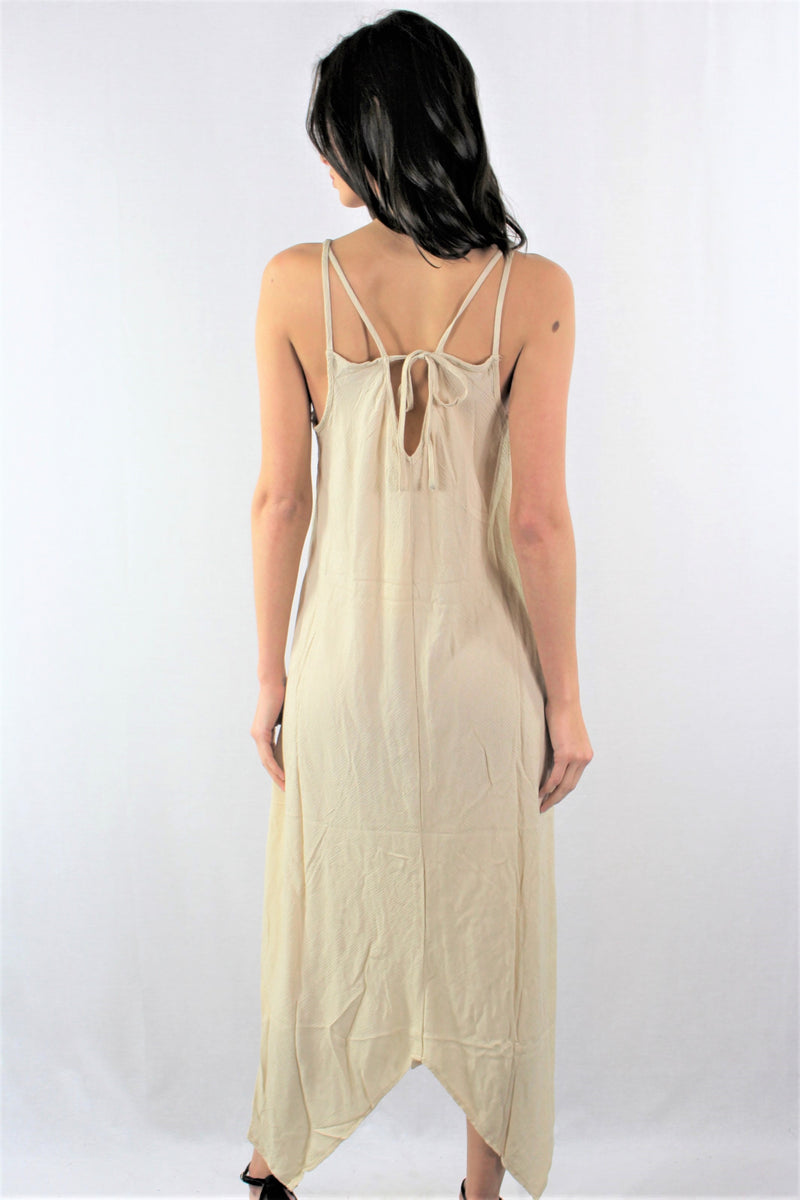 Strappy Maxi Dress with Uneven Hem