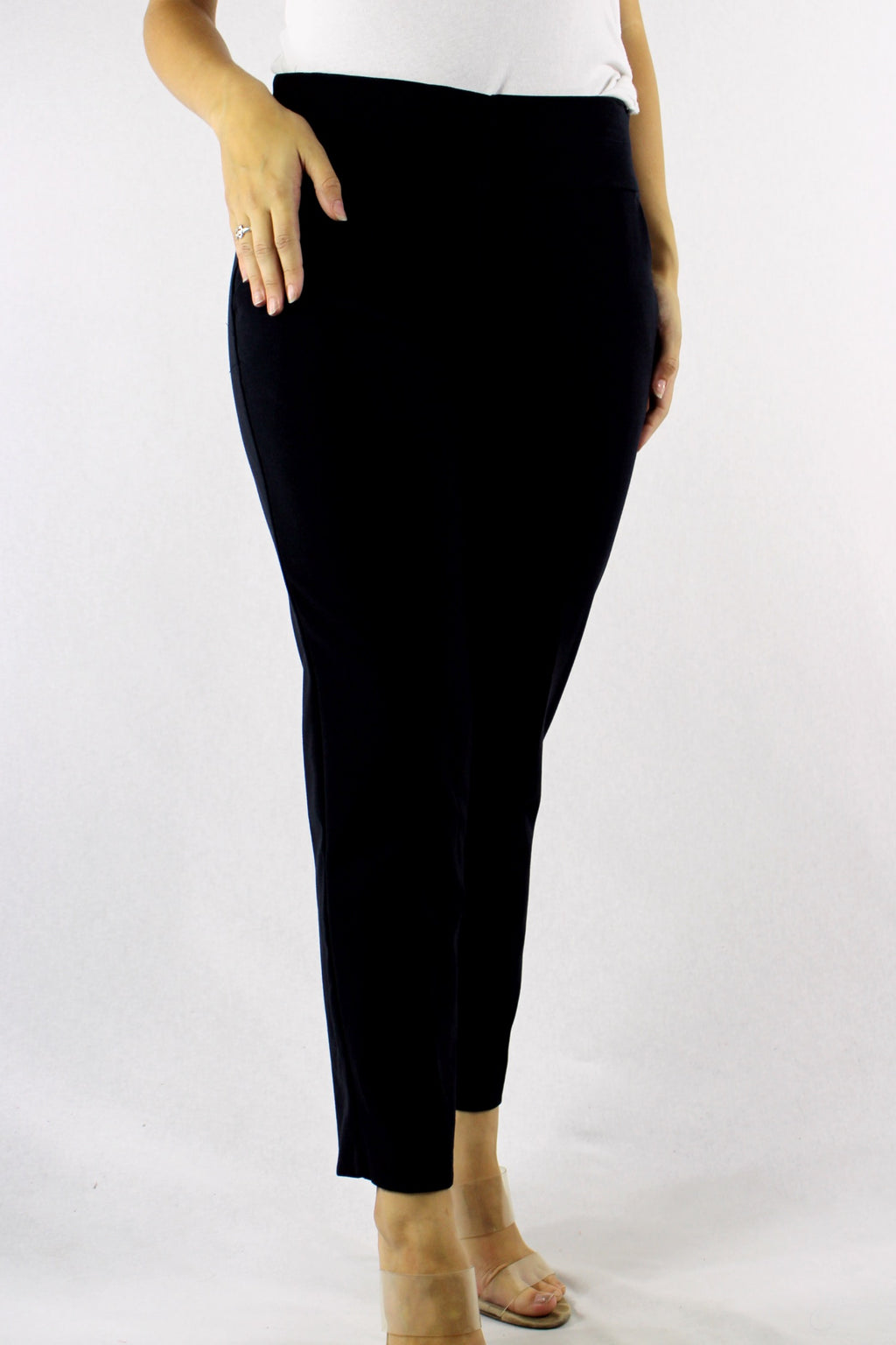 Women's Straight Cut Pants with Front Pockets