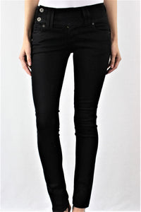 Button Side Skinny Jeans