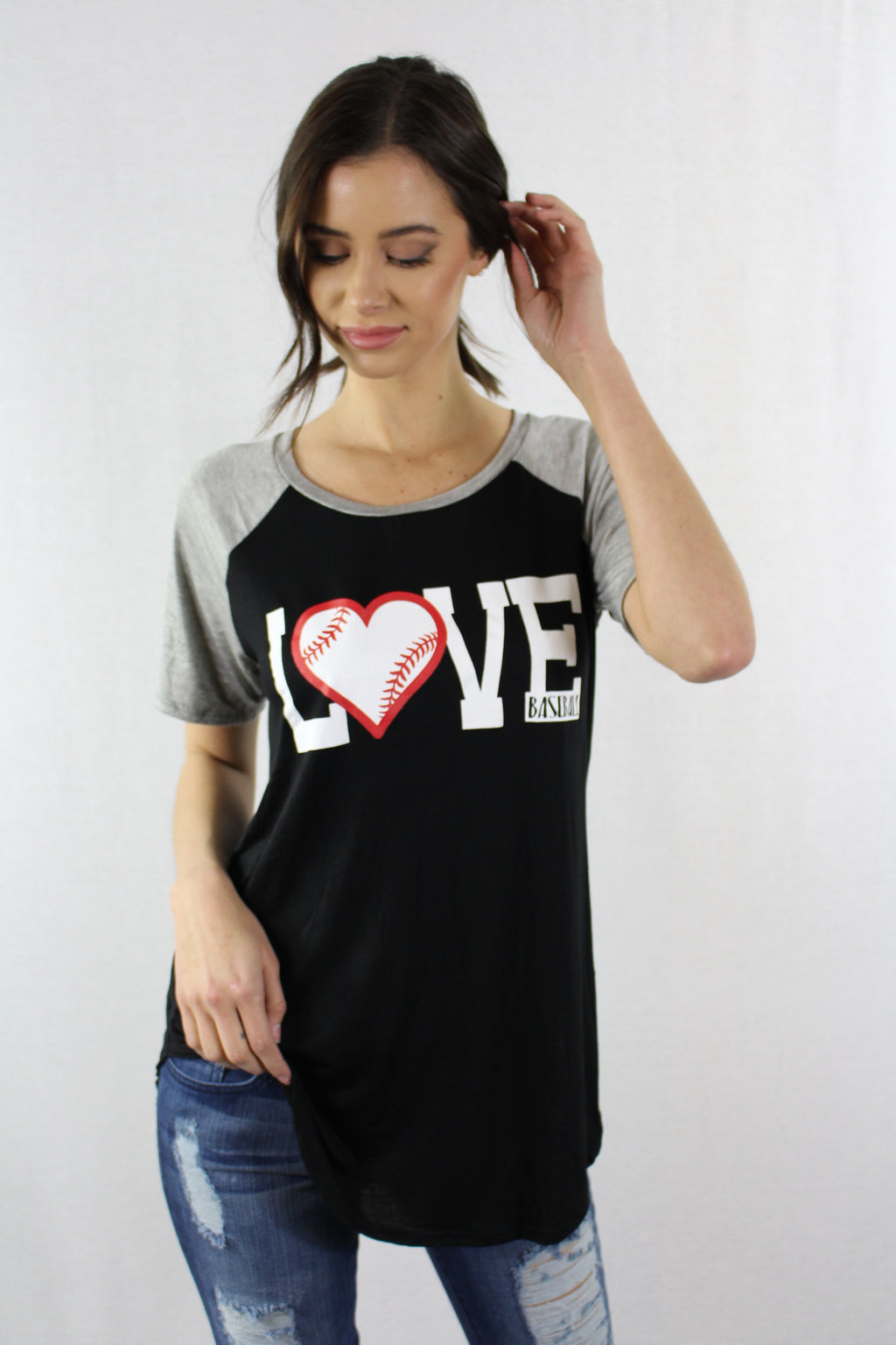 Women's Raglan Love Baseball Tee