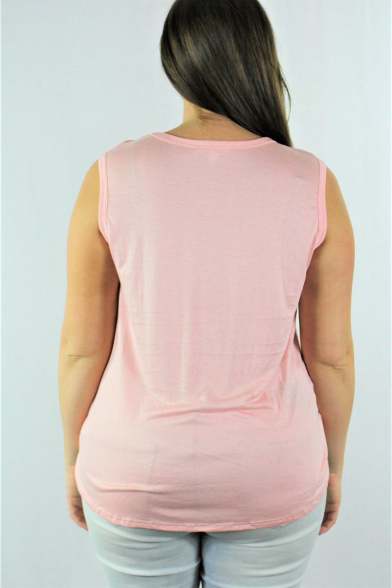 Plus Size Sleeveless with Front Knot