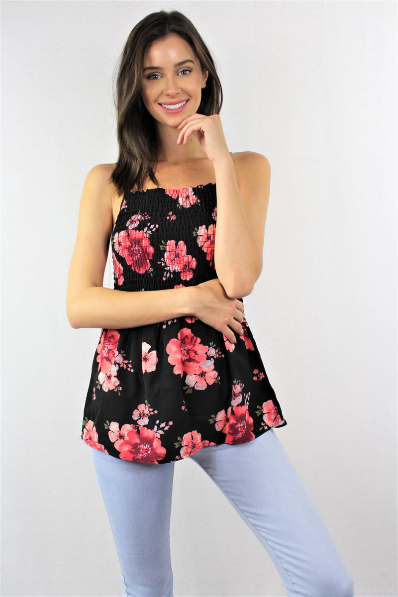 Sleeveless Floral Tank Top