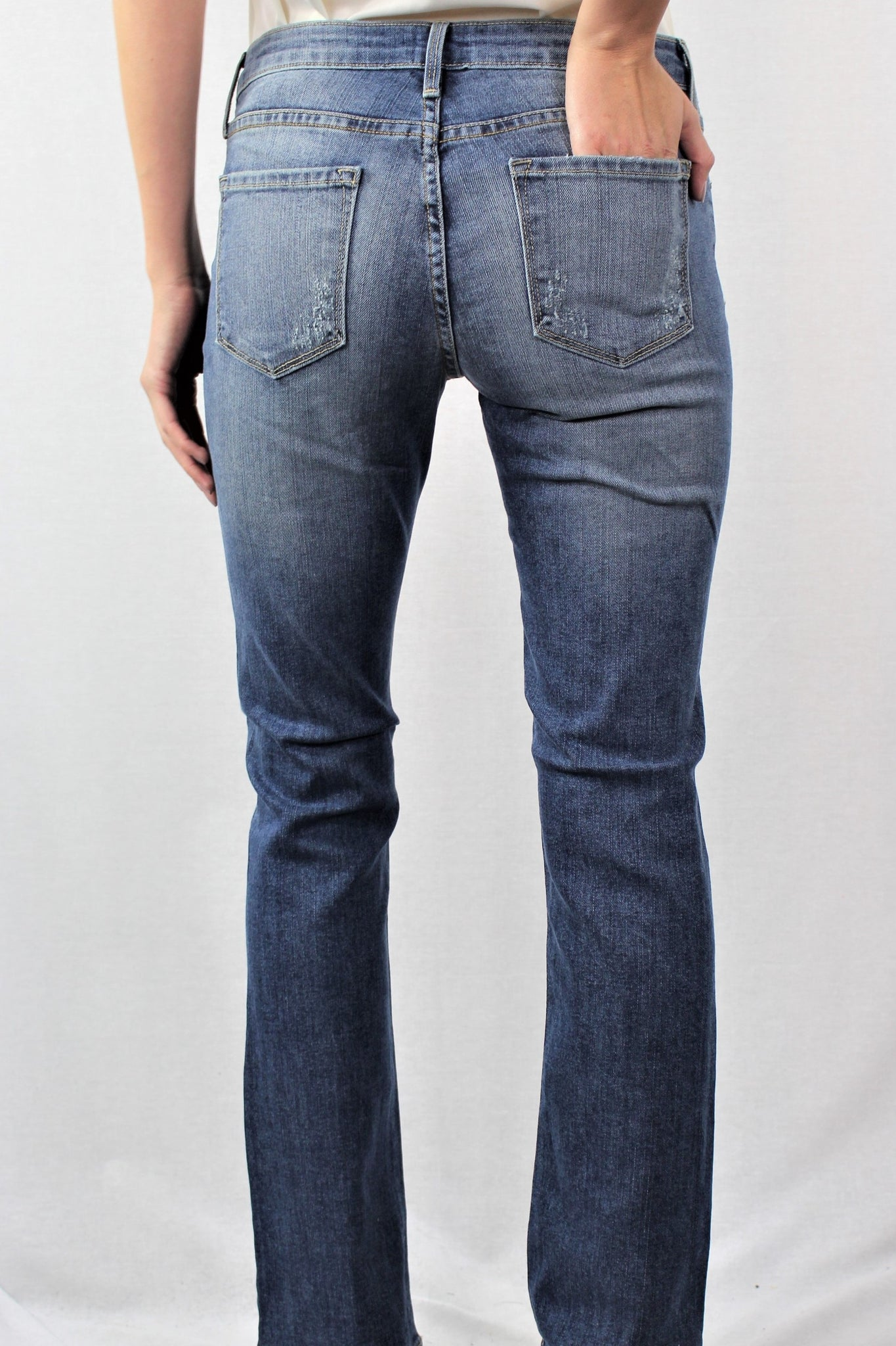 Medium Washed Slim Bootcut Jeans