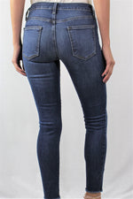 Women's Blue Washed Denim with Shredded Rips