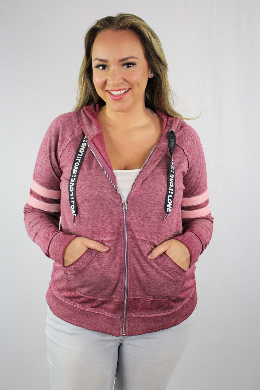 Zip Up Hoodie with Front Pockets