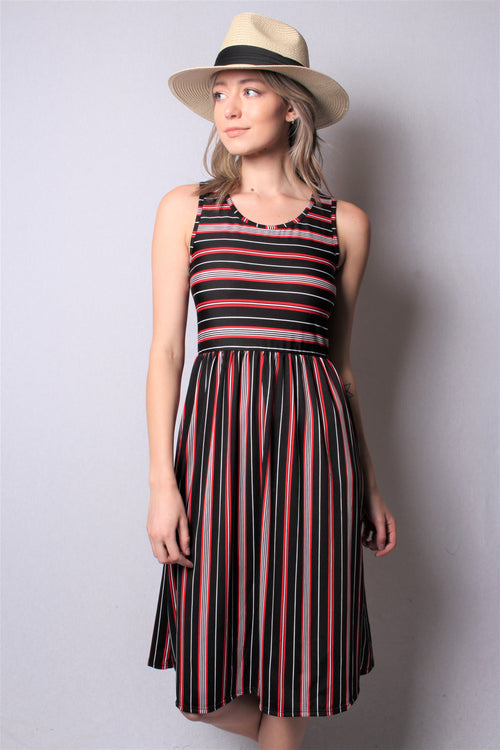 Women's Sleeveless High Waist Midi Dress