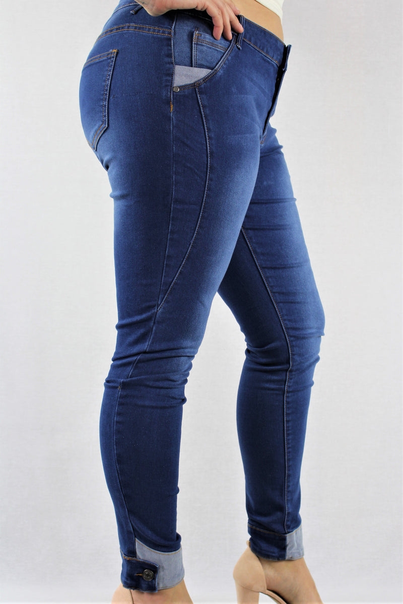Plus Size Blue Washed Ripped Jeans