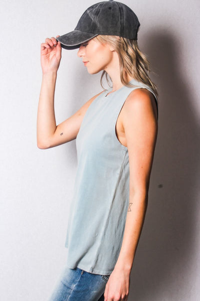 "Loose fit ""Stay Free"" top"