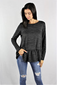 Long Sleeve Peplum Top