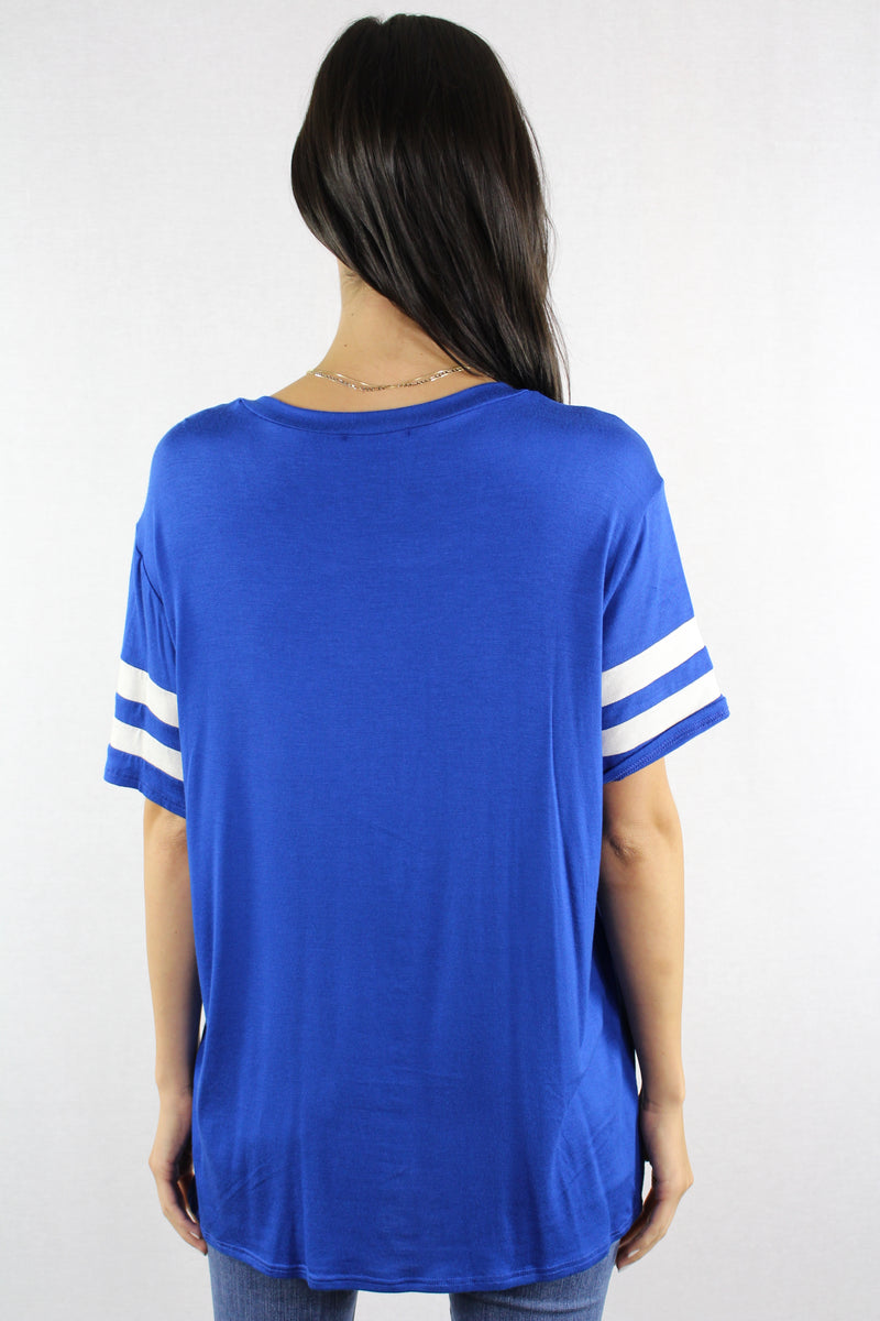 Women's Short Sleeve Relaxed Fit Baseball Tee