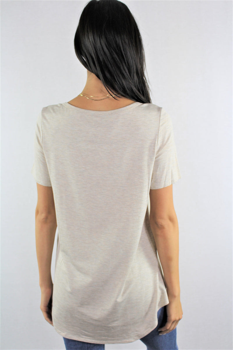 Short Sleeve Relaxed Fit Solid Top