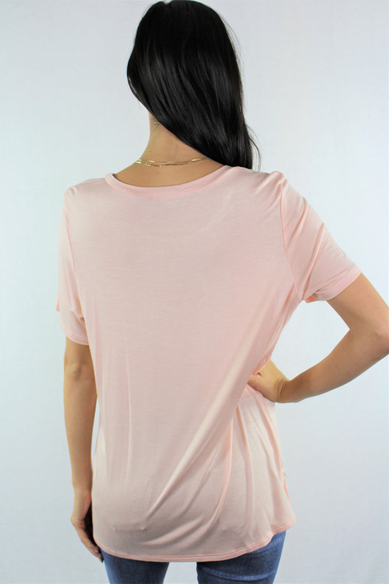 Short Sleeve Relaxed Fit Straight Hem Top