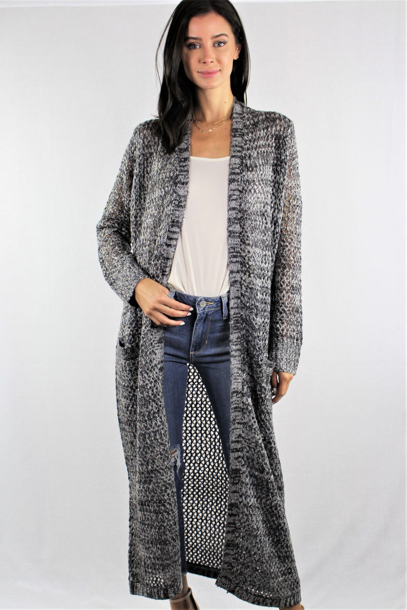 Maxi Cardigan with Front Pockets