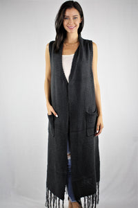 Maxi Vest with Front Pockets
