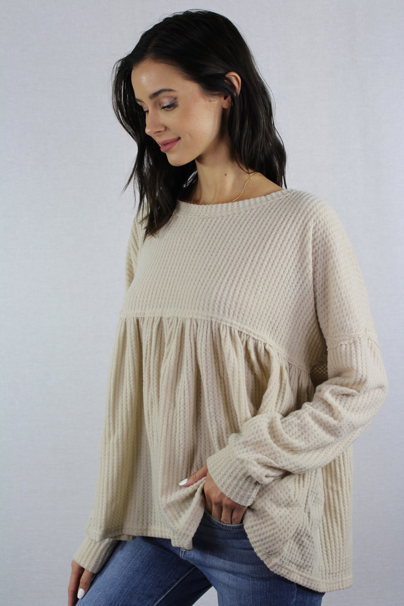 Long Sleeve Top with Wide Hem