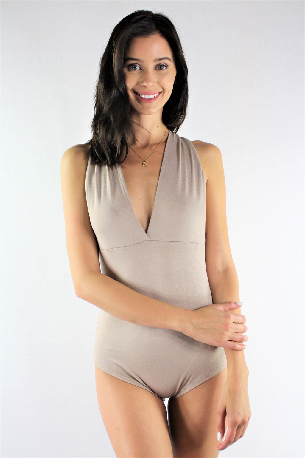 Women's Deep V Neck Bodysuit
