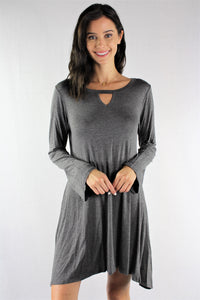 Long Sleeve Loose Fitting Dress
