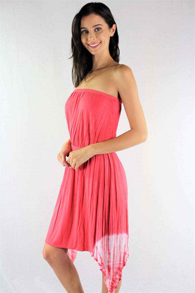 Women's Tie Dye Strapless Dress