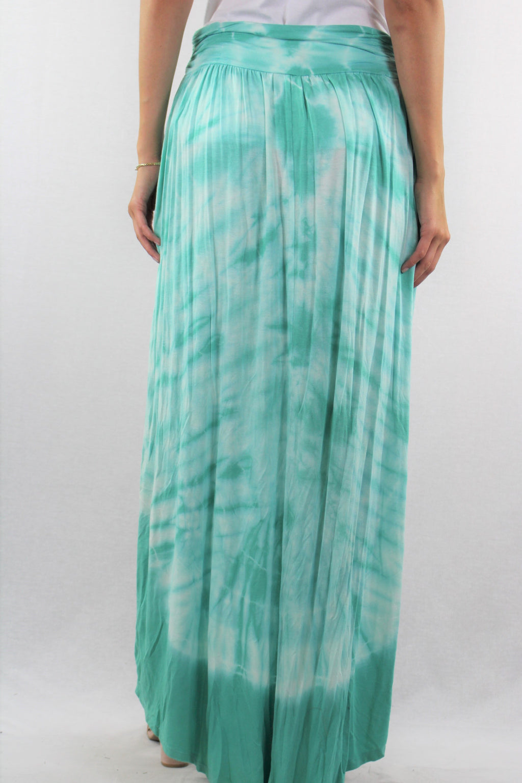 Tie Dye Hi Low Hemline Skirt