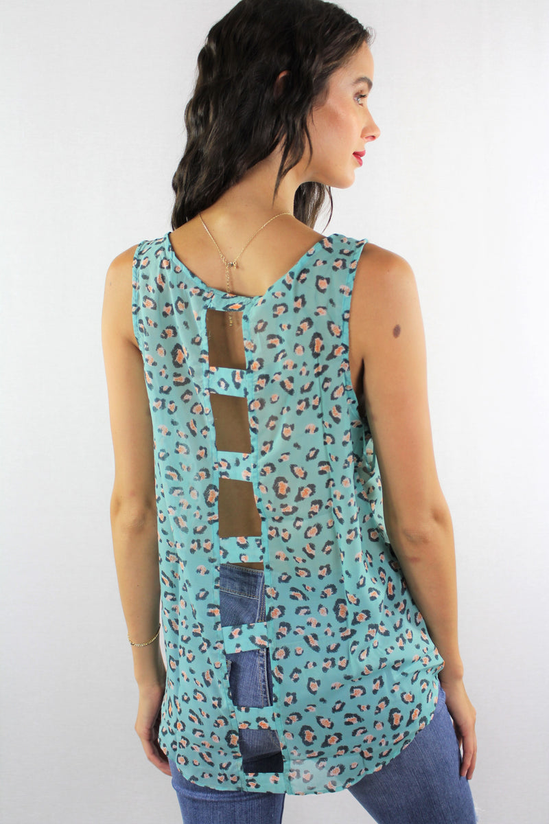 Sleeveless Chiffon Top with Front Knot