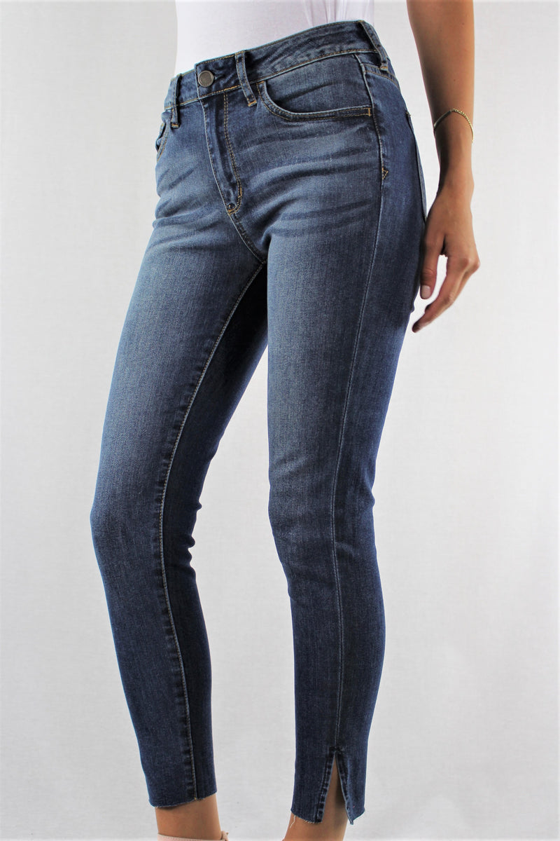 Women's Skinny Jeans with Side Slit