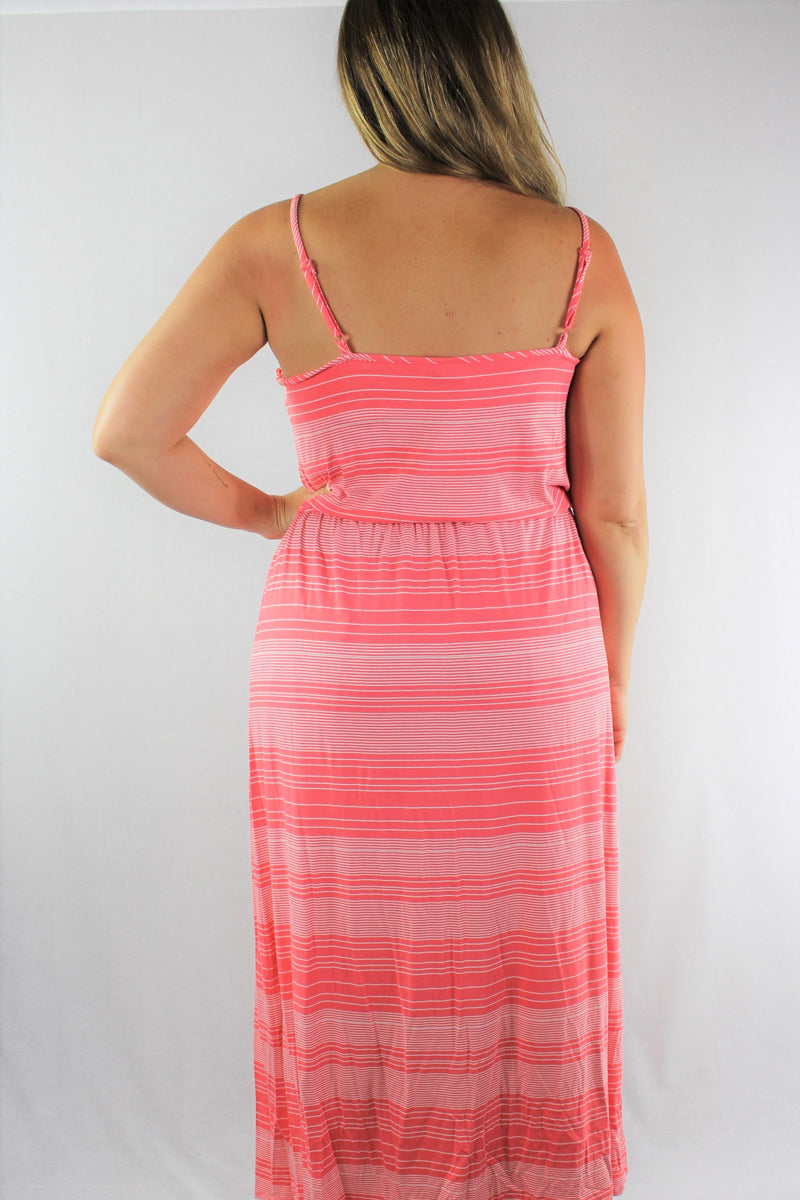Women's Plus Size Strappy Long Summer Dress