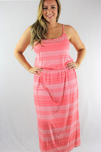 Plus Size Strappy Long Summer Dress