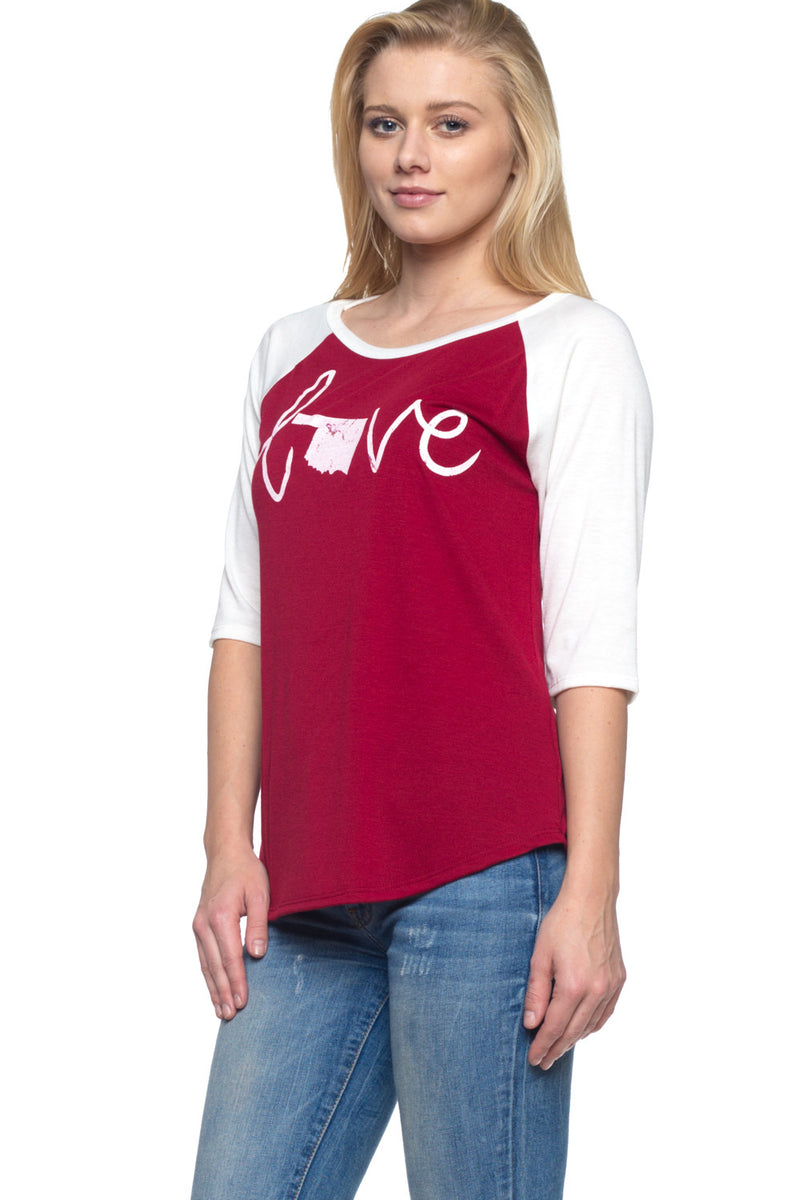Women's Home State Raglan Top