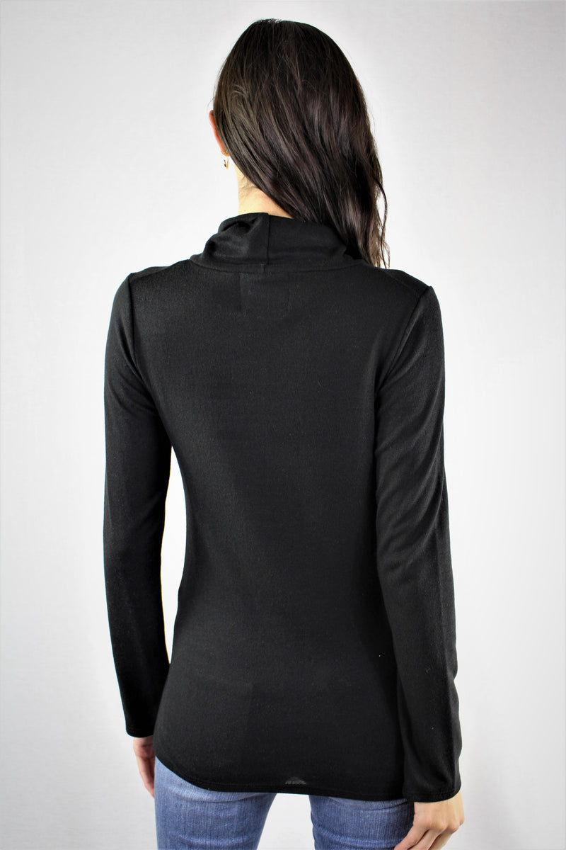 Long Sleeve Loose Turtle Neck Top