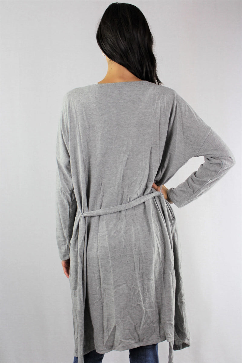 Women's Long Sleeve Cardigan with Belt
