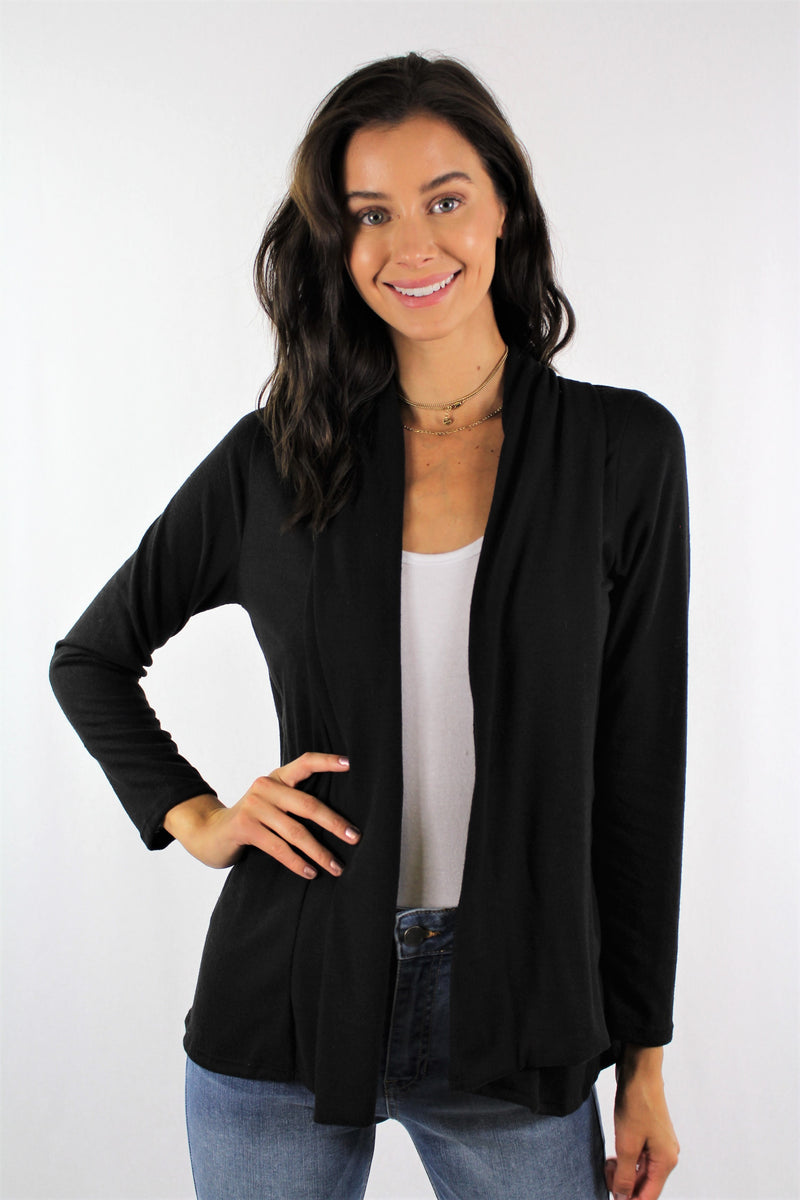 Women's Long Sleeve Open Front Cardigan