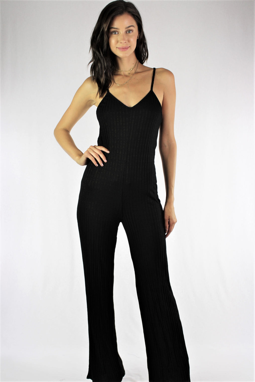 Women's Strappy Jumpsuit with Criss Cross Back