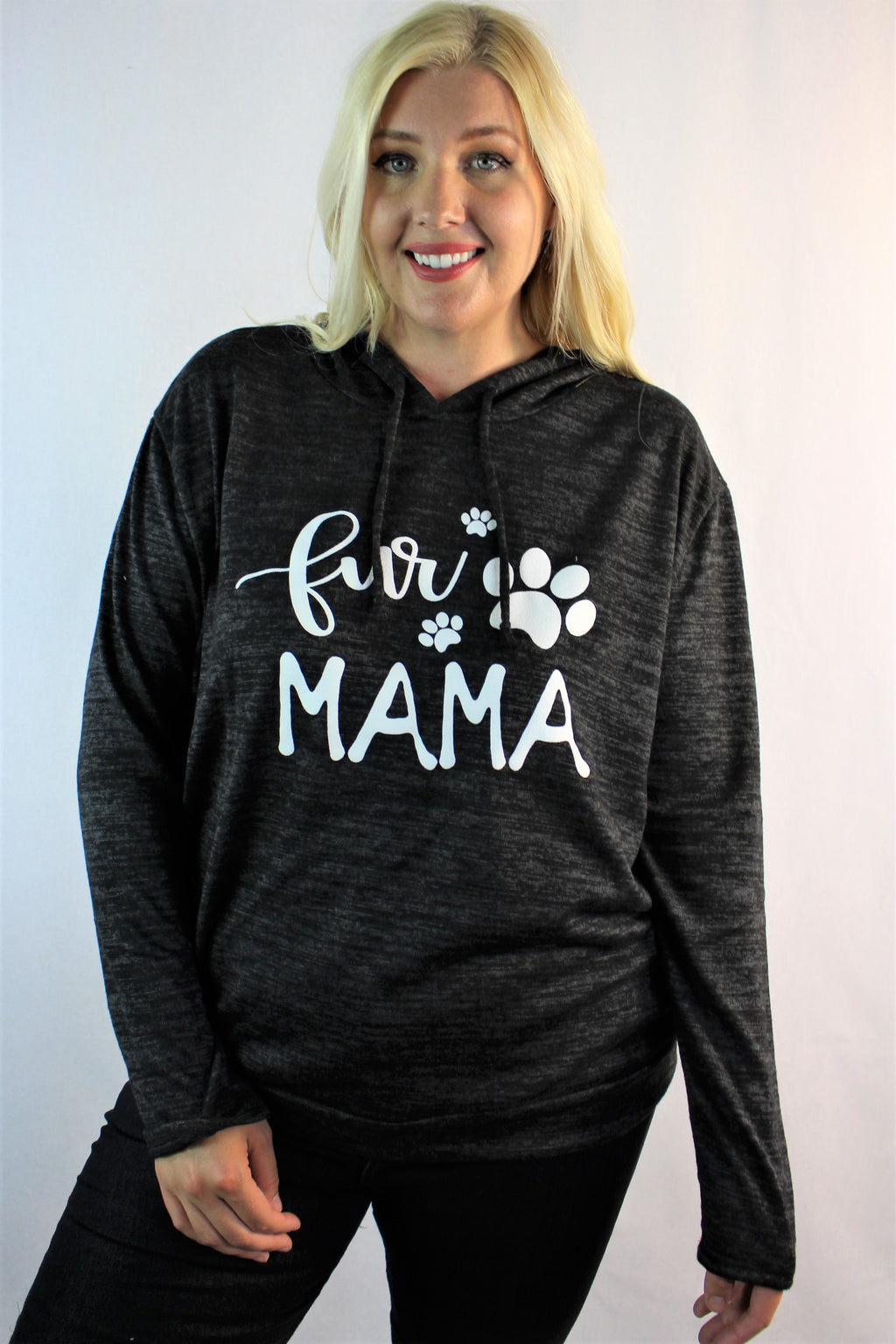 "Women's Plus Size ""Fur Mama"" Comfy Hoodie"