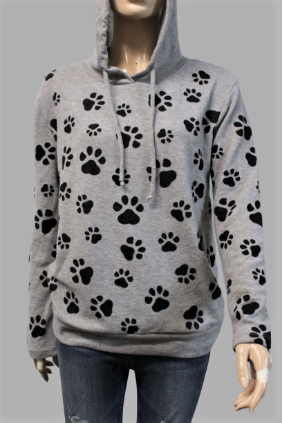 "Women's ""Dog Paws"" Comfy Hoodie"