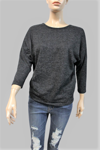 Women's 3/4th Sleeve Top with Twisted Back