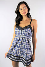 Women's Strappy Mini Dress with Lace Detail *