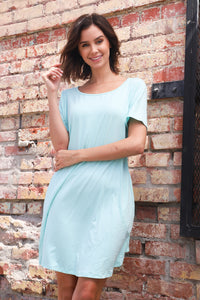 Long teal  Pocket  top