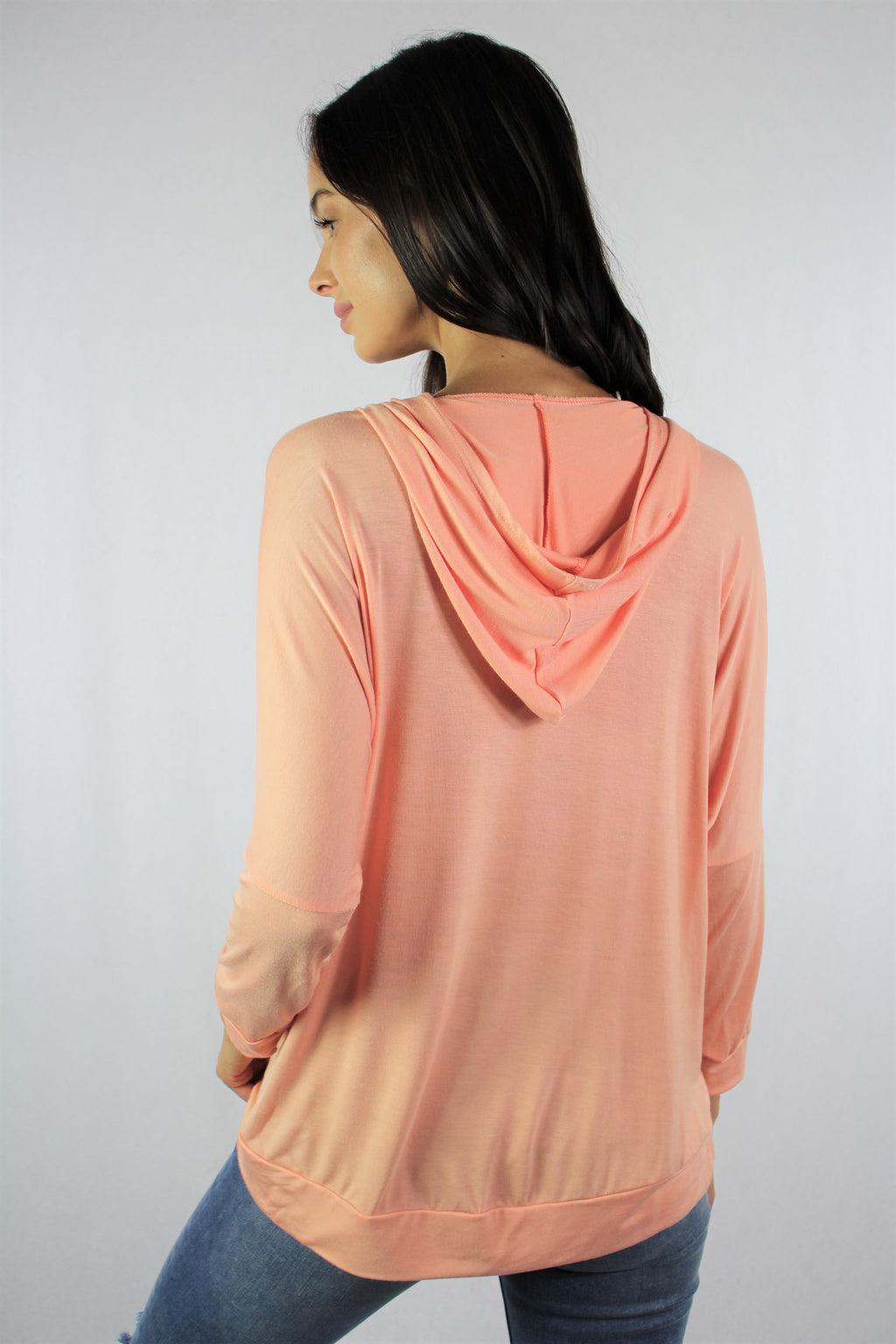 Women's Long Sleeve Top with Hoodie *