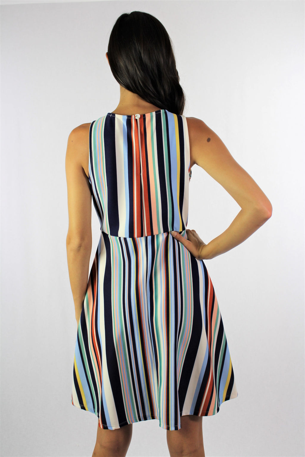 Women's Sleeveless Multi Color Dress