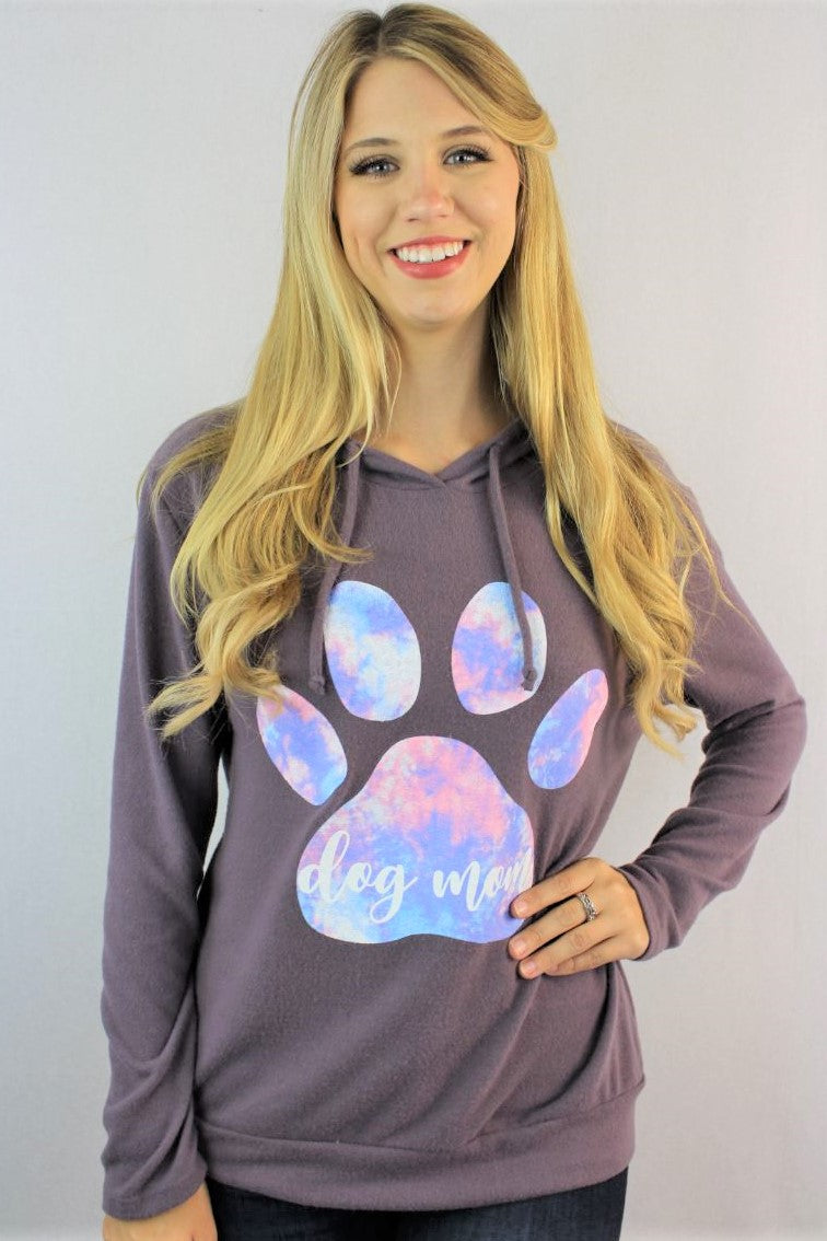 "Women's ""Dog Mom"" Comfy Hoodie"