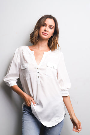 White Button Top