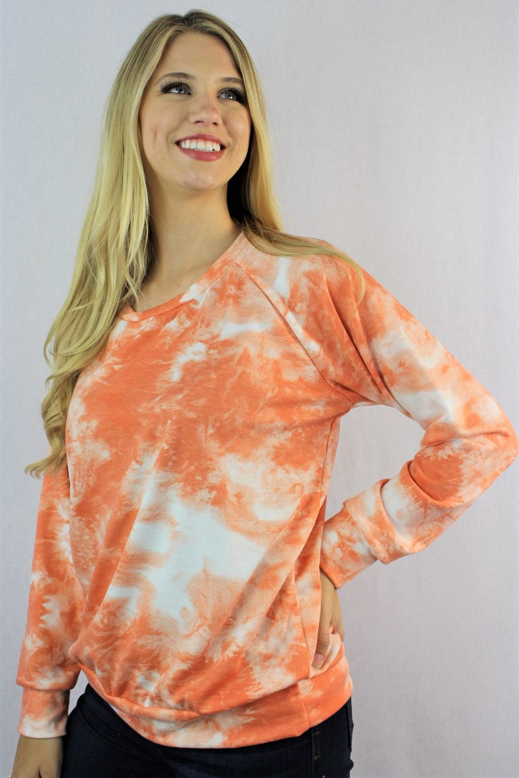 Women's Long Sleeve Tie Dye Sweatshirt