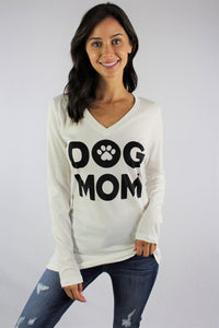 Women's Long Sleeve V Neck Top