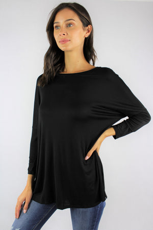 Women's Round Neck Long Sleeve Top