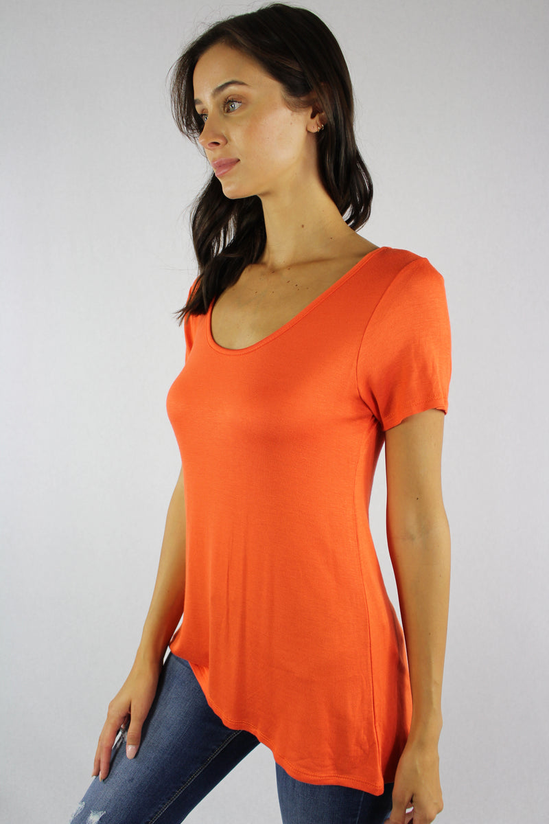 Women's Round Neck Short Sleeve Top