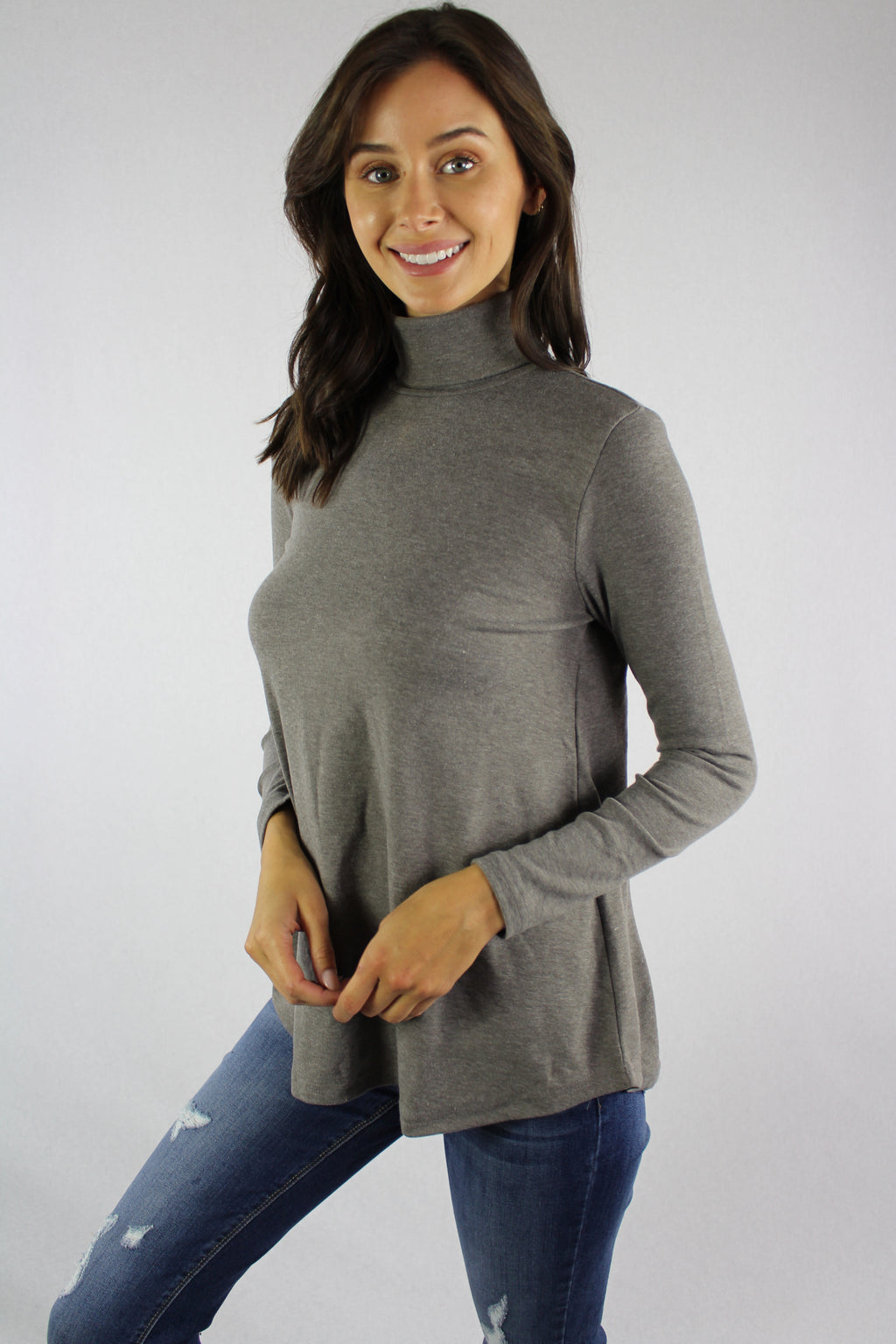 Women's Turtleneck Long Sleeve Top